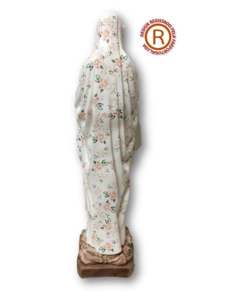 616/G - N. D. de Lourde Effet Granité 64cm en Résine
