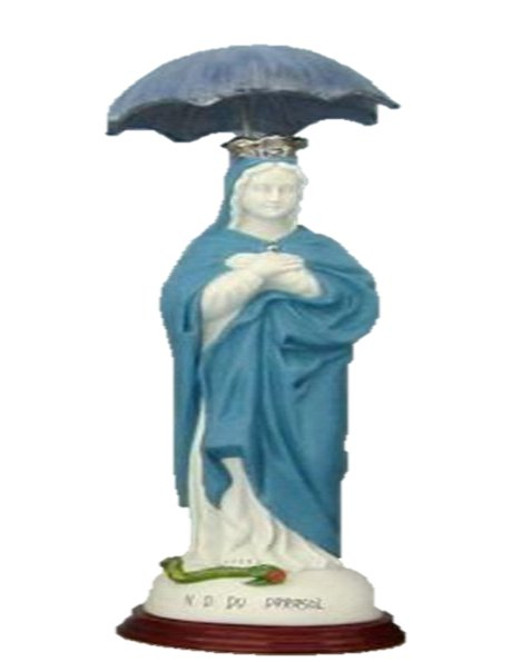 0806 - Our Lady of Parasol 30cm in Porcelain