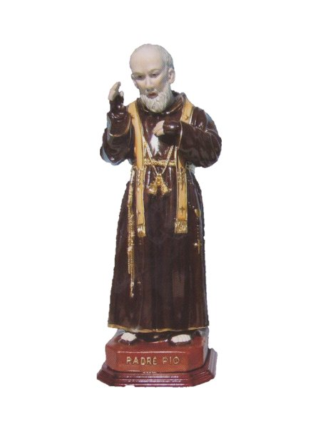 0654 - Father Pio 25cm in Porcelain