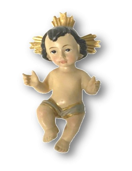 F8003 - Jesus Baby 10cm in Resin
