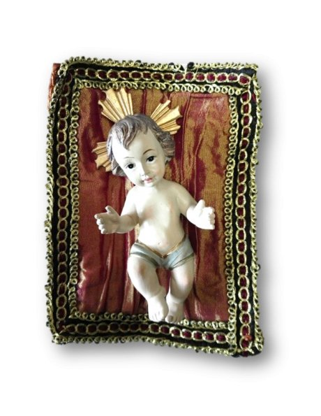8383- Jesus Baby 9cm in Resin