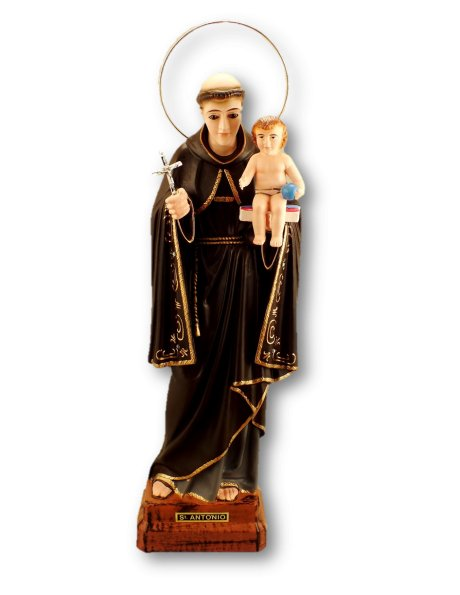 1049 - St. Anthony 35cm w/Crystal Eyes