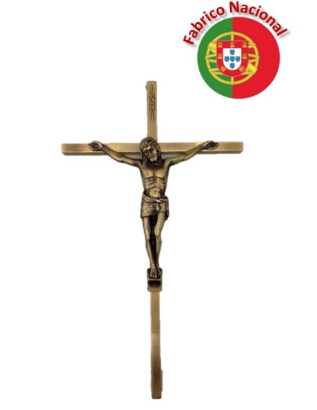 24/5 - Bronze Metal Crucifix To Hang 20cm