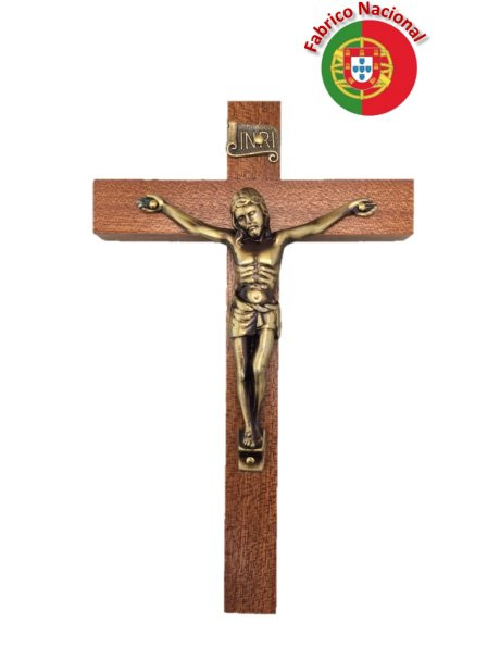 FX1 - Wall Wood Crucifix 17cm w/Metal Christ