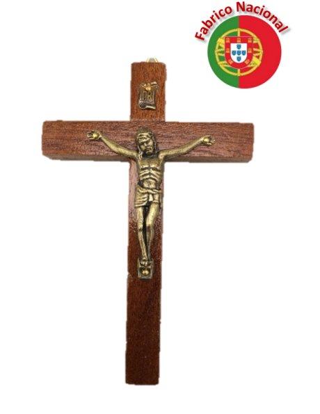 154 - Croix em Bois a Suspendre 10cm a/Christ en Métal