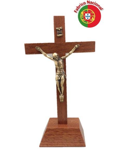 270/P - Croix em Bois 16cm a/Base et Christ en Métal