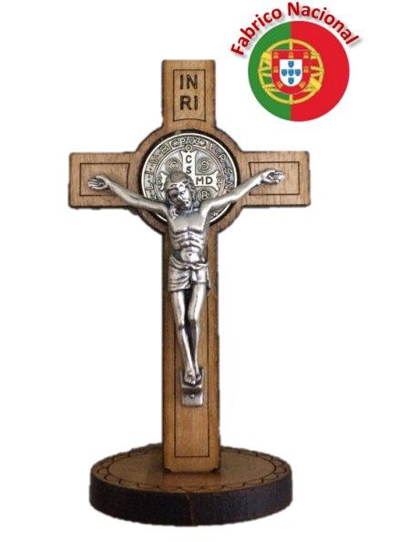 CR3- Cruz em Madeira de S. Bento 8cm c/Base