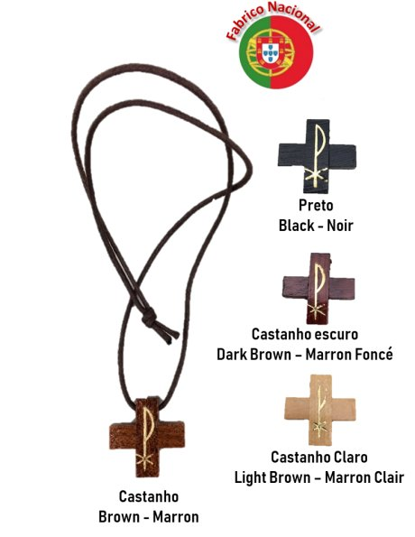 1927 - Neckless with Wood Cross 2,90x2,90cm