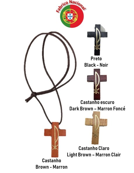 1928 - Neckless with Wood Cross 4,50x2,90cm