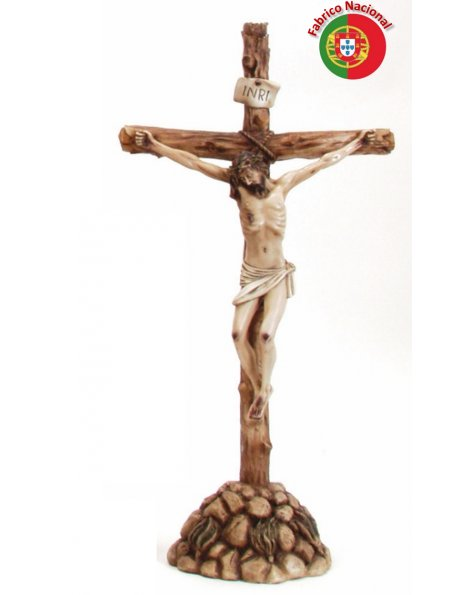381 -  Resine Crucifix  61x33cm  w/Base and Christ in Resine