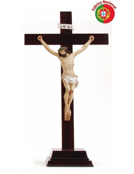430 -  Wood Crucifix  w/Base 61x29cm and Christ in Resine