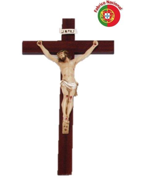 431 -  Wood Crucifix  56x29cm w/ Christ in Resine