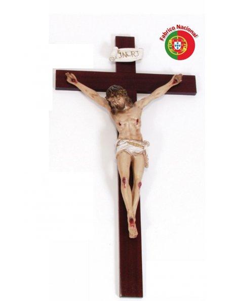 278 - Crucifixo em Madeira 74x40cm c/Cristo em Resina