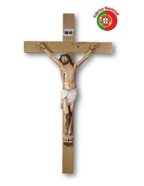 768 - Crucifixo em Madeira 180x100cm c/Cristo em Resina