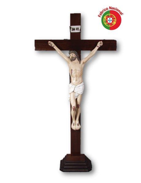 770 - Crucifixo em Madeira 190x100cm c/Cristo em Resina
