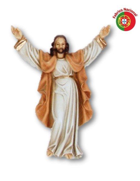 385 - Cristo Ressuscitado 22,50x16,50cm em Resina