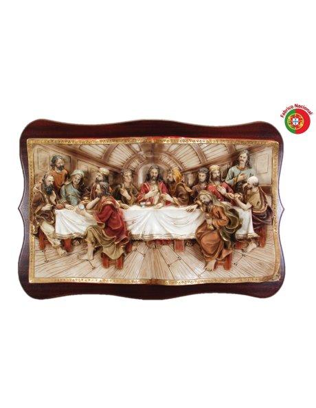 652 - Jesus Last Supper 51x76cm in Resine