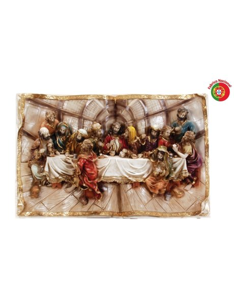 644 - Jesus Last Supper 26x39cm in Resine