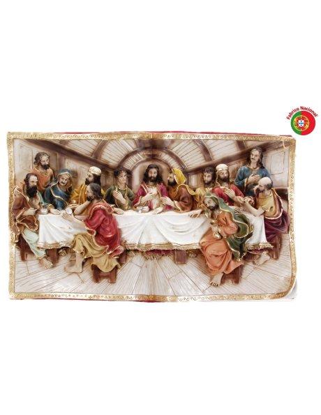 643 - Ceia de Cristo 40x68cm em Resina