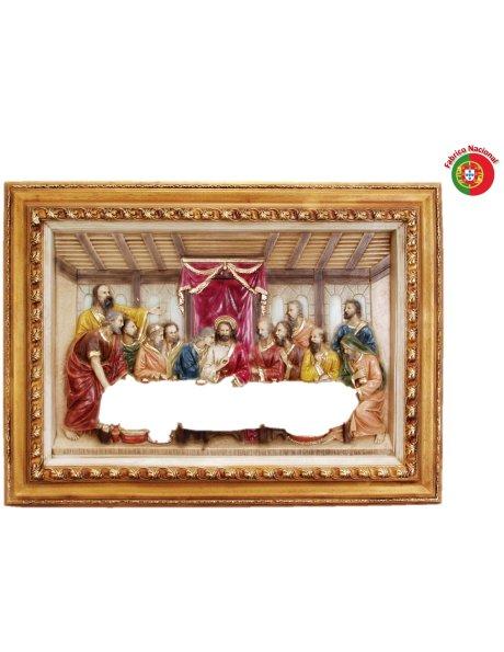 553 - Ceia de Cristo 59x76,50cm em Resina