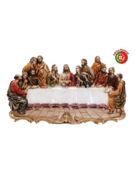 418 - Jesus Last Supper 32x56cm in Resine