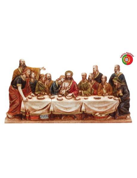 445 - Jesus Last Supper 29x58cm in Resine