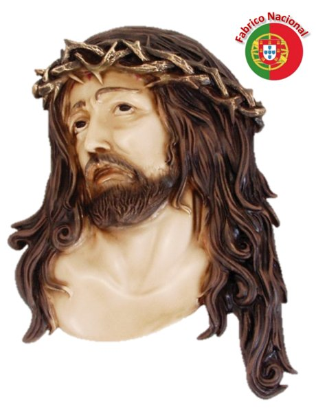 416 - Wall Christ Face 30x20cm in Resine