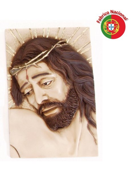 389 - Wall Christ Face 28x19cm in Resine