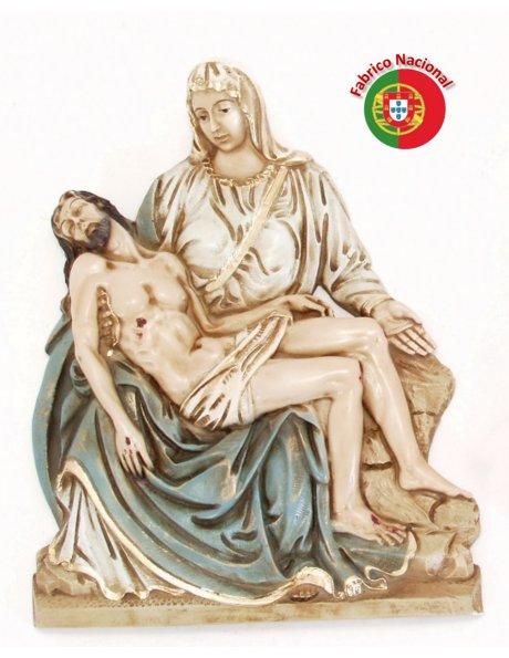 390 - Pieta 23x29cm en Résine