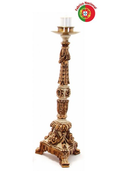 625 - Candlestick  62x23cm in Resine