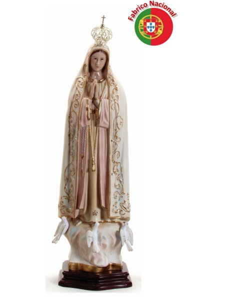280 -  Our Lady of Fátima 59x19cm in resine