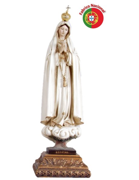 659 -  Our Lady of Fátima  51X17cm in resine