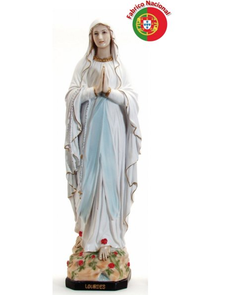 640 -  Our Lady of Lourdes 63x19cm in resine