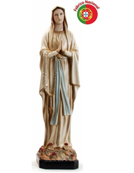 616 BEGE -  Our Lady of Lourdes 64x16cm in resine