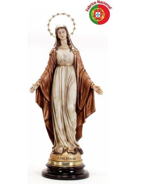 192 DORÉ - Vierge Miraculeuse 60x25cm en Résine