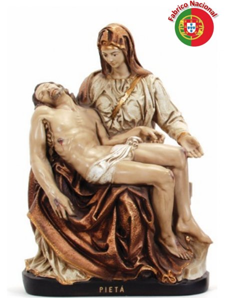 403 GOLDEN - Pieta 51x33cm in Resine