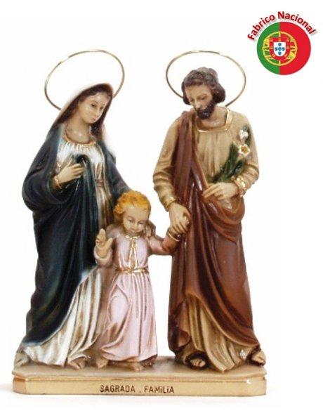622 -  Holy Family  16x21cm in resine