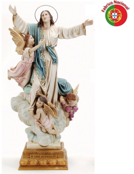 592-  Our Lady of Assumption 68x34cm in resine