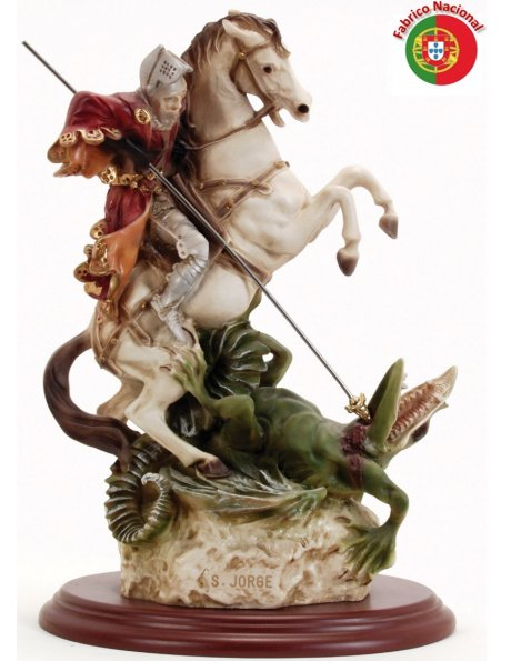 559 -  Saint George 49,50x34cm in resine