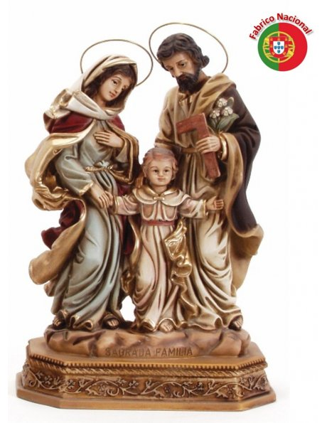 709 -  Holy Family 35x24cm in resine