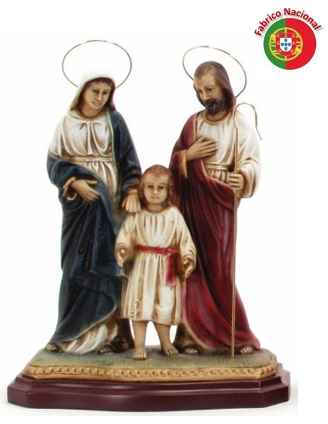 160 -  Holy Family 28x24cm in resine
