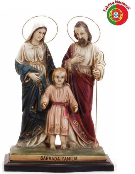 378 -  Holy Family 38x27cm in resine