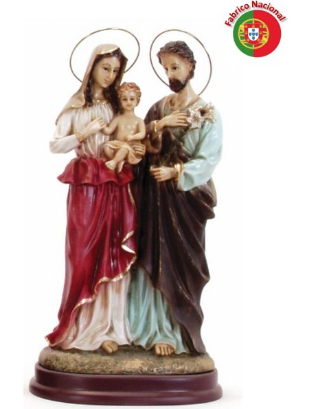 732 -  Holy Family 31x17cm in resine