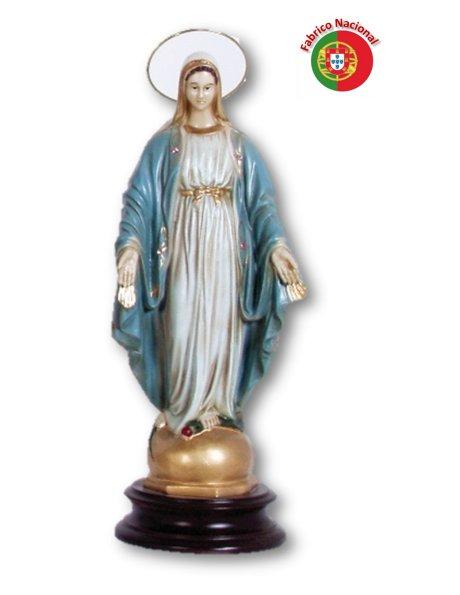 253 - Vierge Miraculeuse 37x15cm en Résine