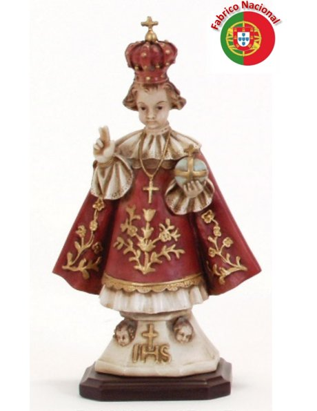 249 - Infant Jesus of Prague 27x17cm in Resine