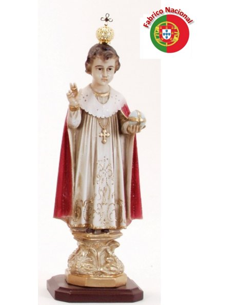 165 - Infant Jesus of Prague 29x12cm in Resine