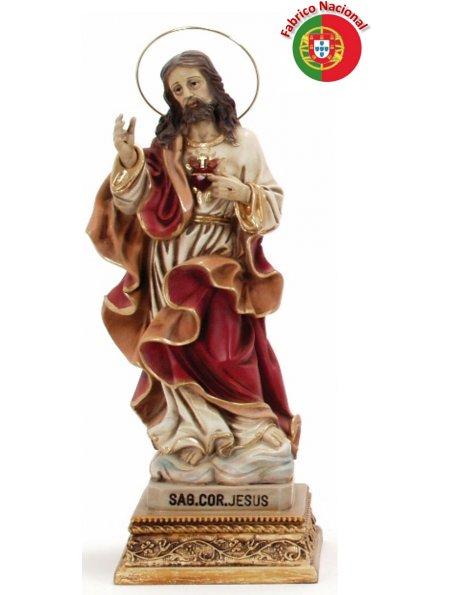 716 - S. Heart of Jesus 36x15cm in Resine
