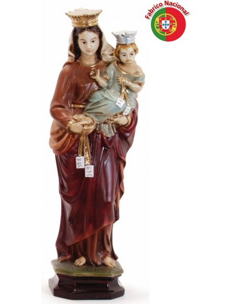 380 - Our Lady of Carmel  41x14cm in Resine