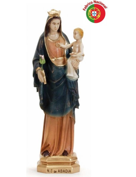 332 - Our Lady of Abadia 30x12cm in Resine