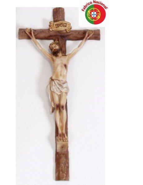 261 - Crucifixo 62x31cm c/Cristo em Resina